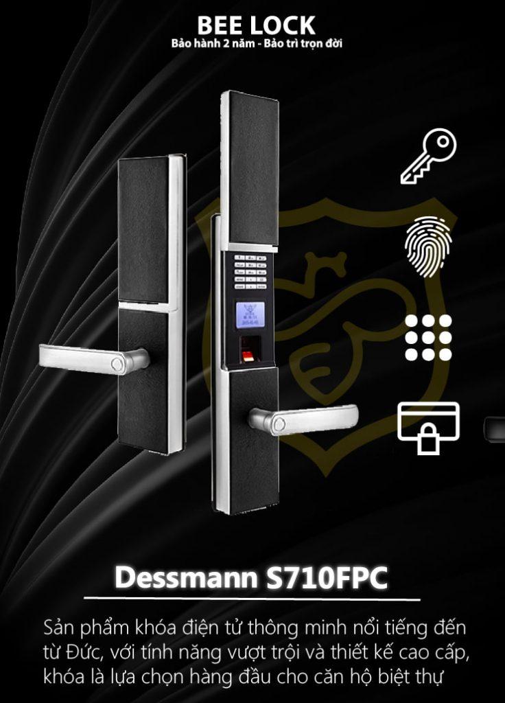 Khóa cửa vân tay Dessmann S710FPC