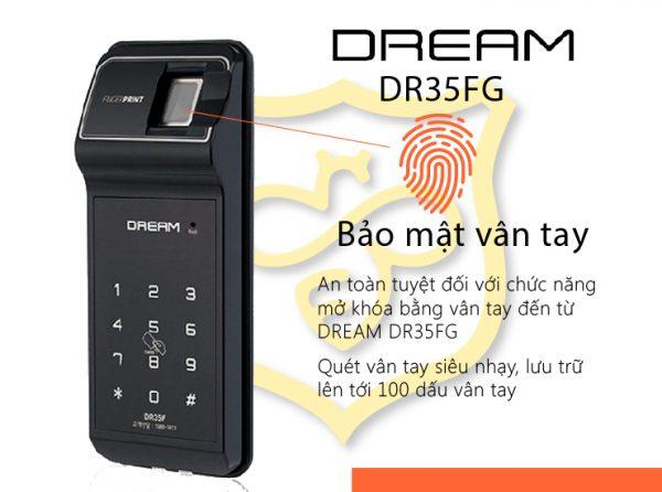 Khóa vân tay cửa kính Dream DR35FG