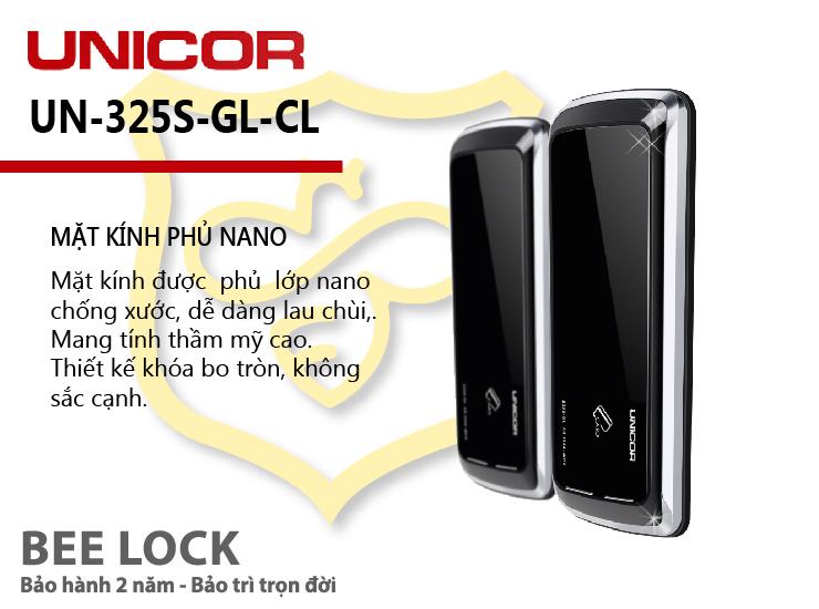 Khóa cửa thẻ từ Unicor UN 325S-GL-CL