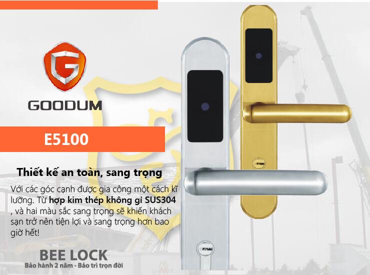 Khóa cửa thẻ từ Goodum E5100