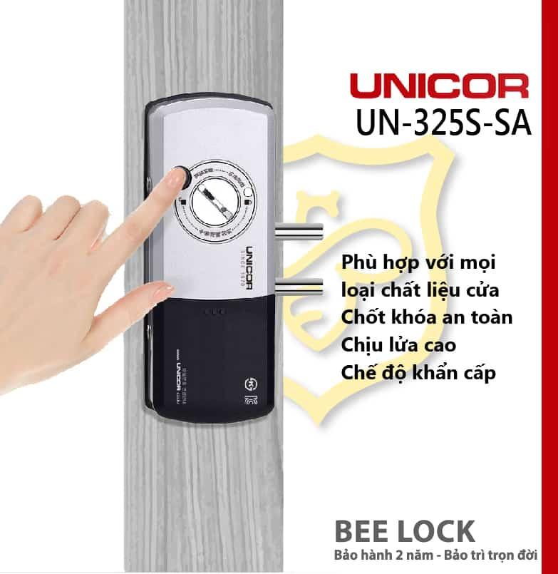 Khóa cửa thẻ từ Unicor UN 325S-SA