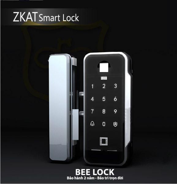 Khóa cửa vân tay cửa kính ZKAT SMart Lock