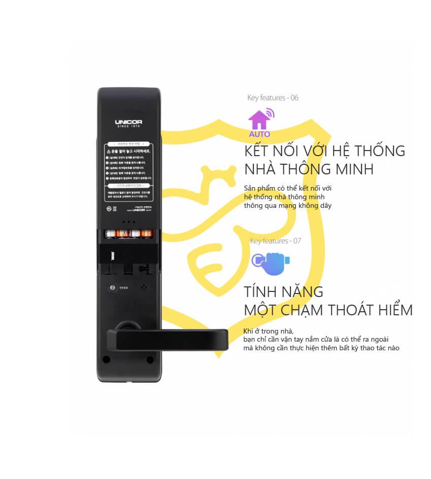Khóa cửa thẻ từ Unicor UN -7200SK-F