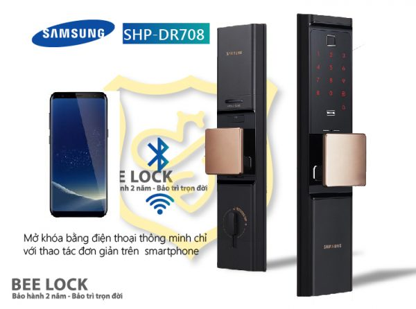 Lắp đặt khóa cửa Samsung SPH DR708