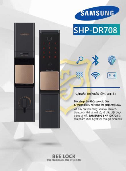 khóa cửa điện tử Samsung SPH DR708