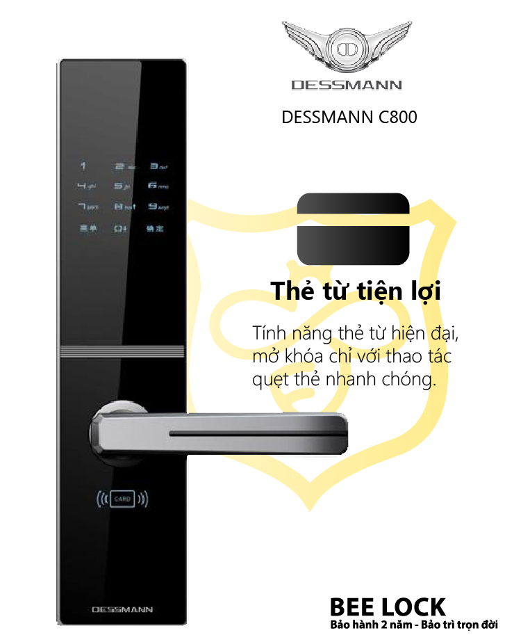 Khóa cửa thẻ từ Dessmann C800