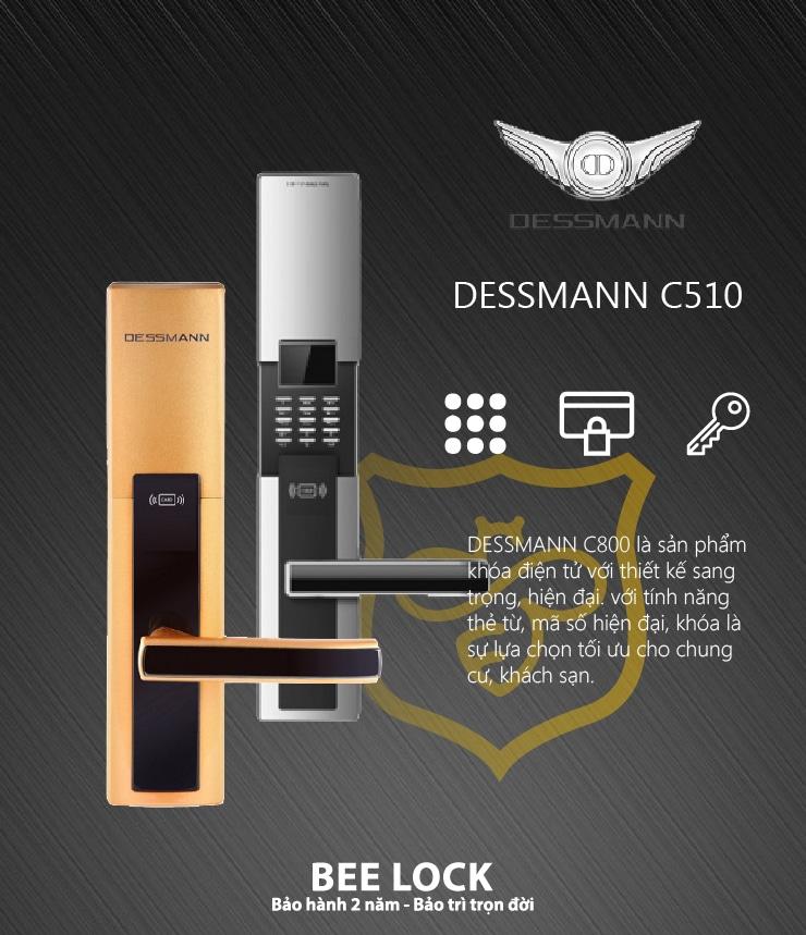 Khóa cửa thẻ từ Dessmann C510