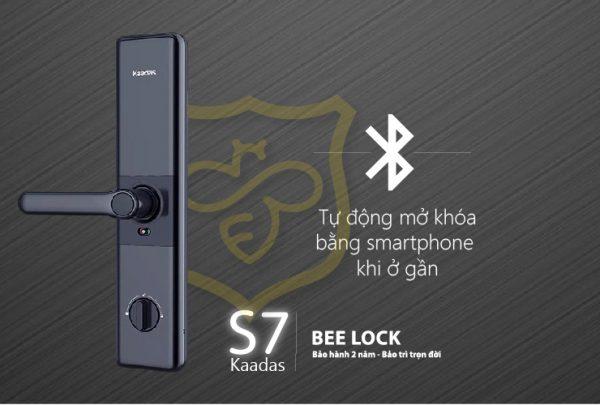 Thiết kế hiện đại khóa cửa vân tay Kaadas S7