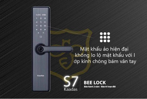 Mật khẩu khóa cửa vân tay Kaadas S7