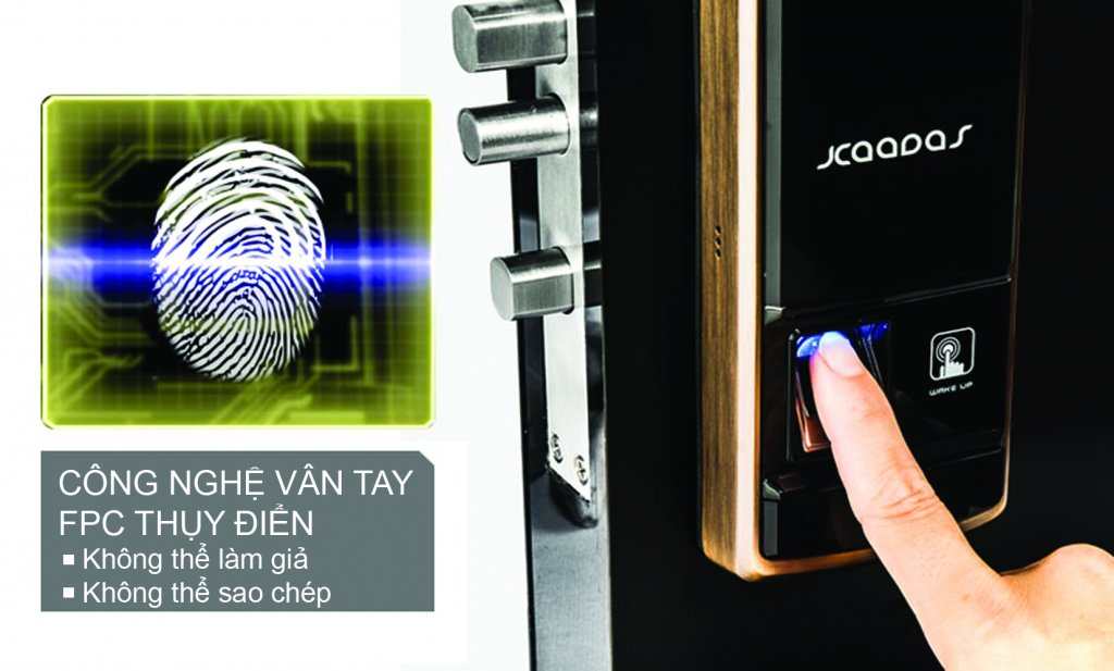 khóa cửa điện tử dùng vân tay
