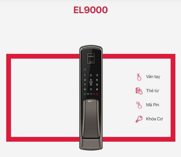 Khóa cửa điện tử Hafele EL9000
