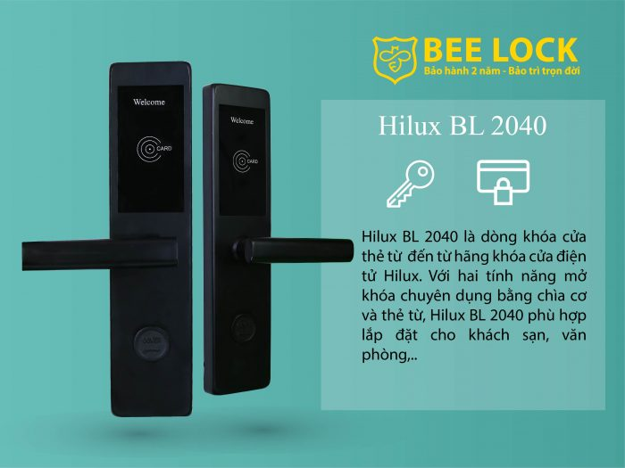 Khóa cửa thẻ từ Hilux BL-2040