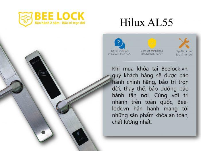 Khóa cửa thẻ từ Hilux AL-55