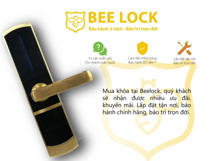 Khóa cửa thẻ từ Hilux BL-2080