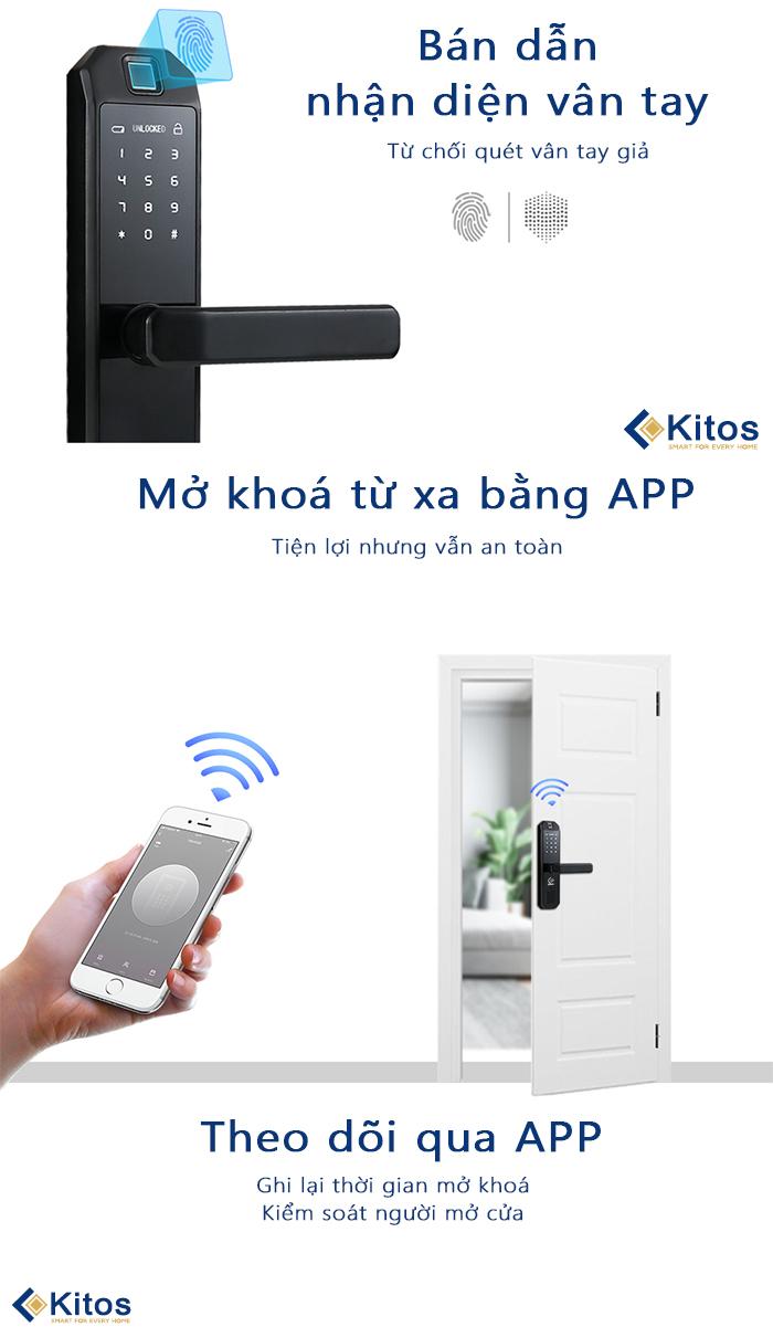 Khóa cửa vân tay Kitos KT-6800