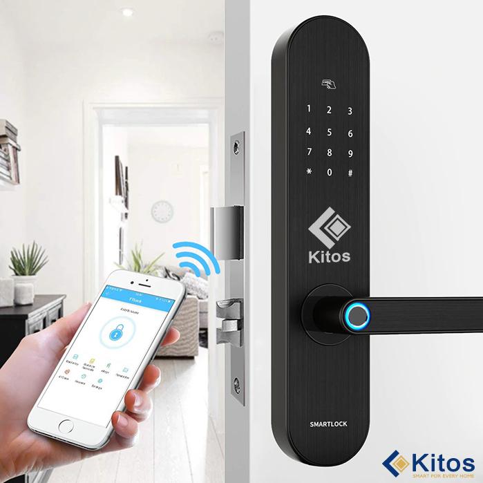 Khóa cửa vân tay Wifi Kitos A20 Plus