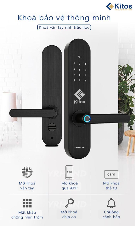 Khóa cửa vân tay Wifi Kitos KT-A20 Plus