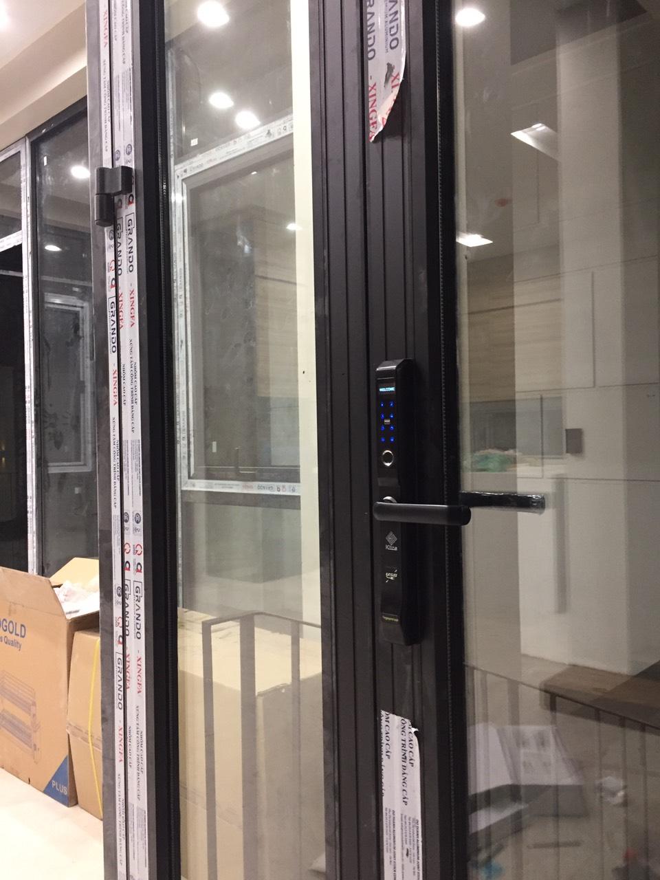 Lắp đặt khóa cửa vân tay xingfa Kitos KT-AL410
