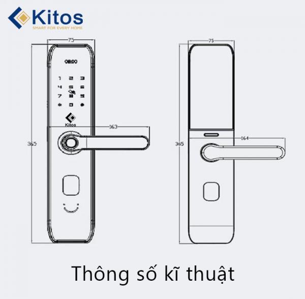 Hướng dẫn cài đặt và sử dụng khóa cửa vân tay Kitos KT-A10