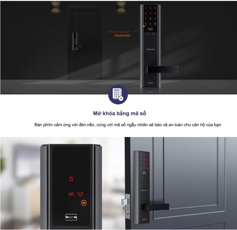 Khóa cửa mã số Samsung SHP DH537