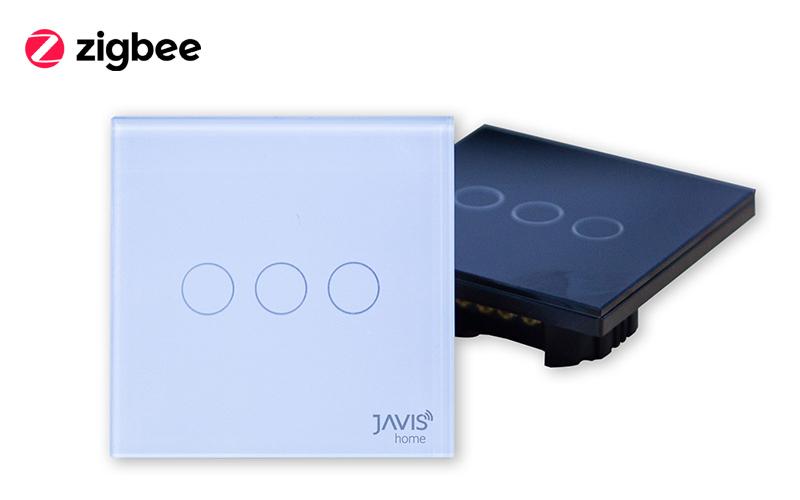 Công tắc JAVIS 3 Gang vuông Zigbee JS3C-EU-ZB