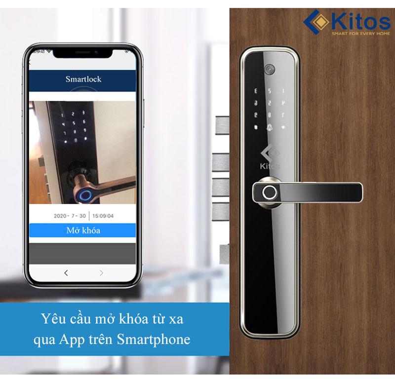 Kitos X3 mở qua App điện thoại