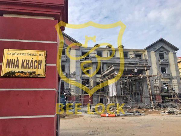Dự án thi công khóa thẻ từ cho nhà khách UBND Tỉnh Hưng Yên