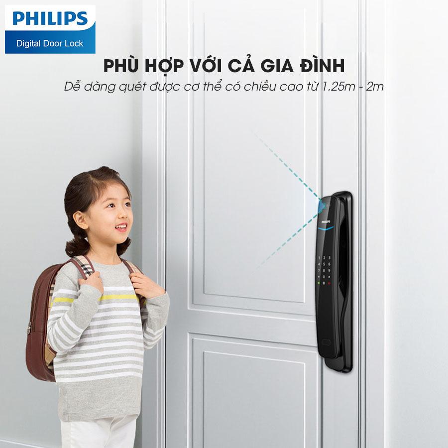 Khóa cửa vân tay Philips DDL702