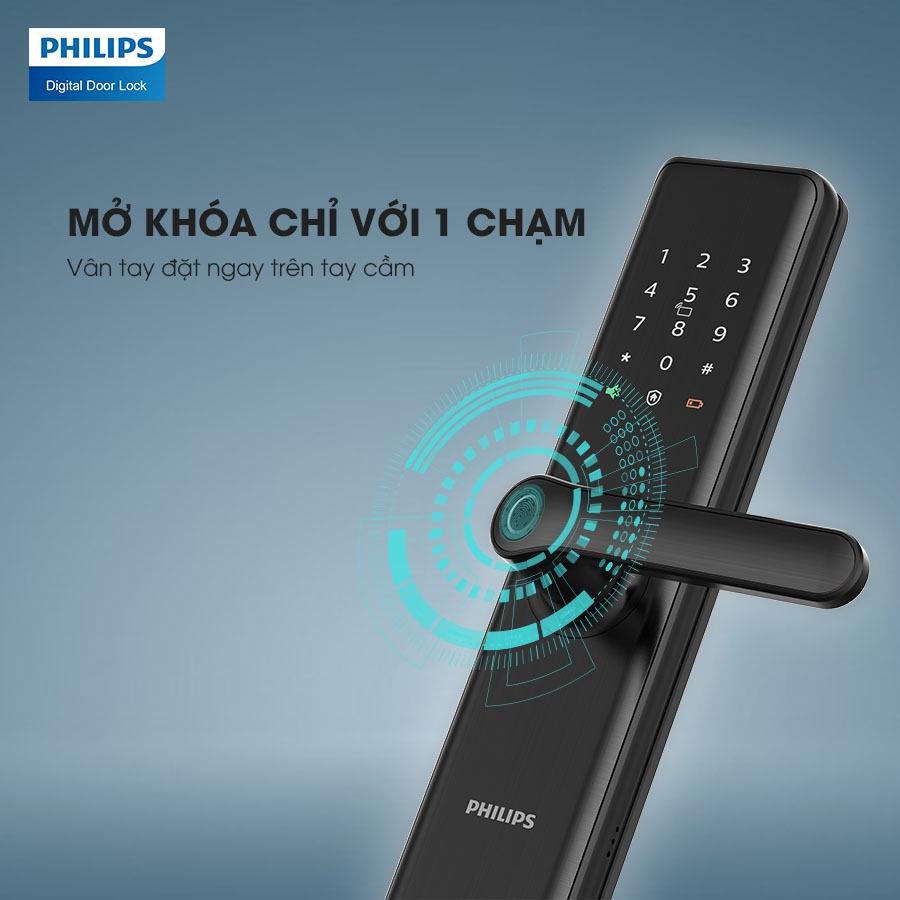 Khóa cửa vân tay Philips 7300
