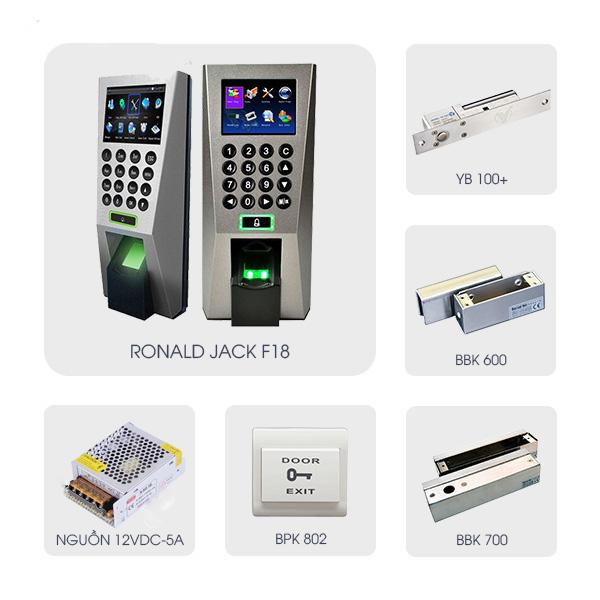 Hệ thống kiểm soát ra vào sử dụng đầu đọc Ronald Jack F18