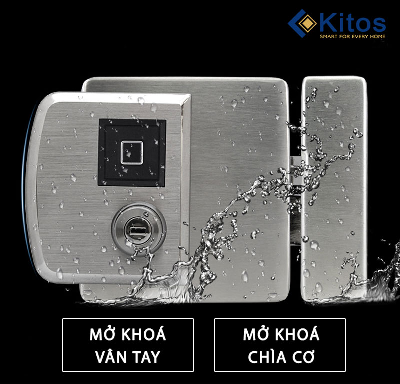Khóa vân tay hai chiều cửa cổng Kitos DL02 Pro